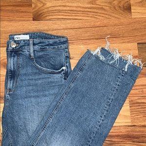 Zara High Waist Boyfriend Jeans